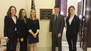 Representatives from the Penn Science Policy Group meet with lawmakers. Image Credit: BPC Staff.